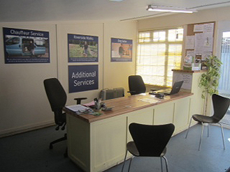 kennels reception